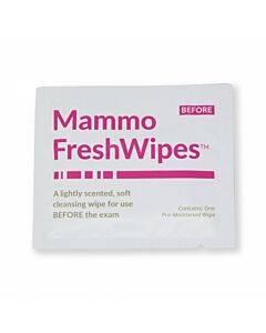 FreshWipes™ Mammography Patient Wipe Pre-moistened Cleansing Towelette Individually Packaged for Use Before Patient Exam - 500 per Case